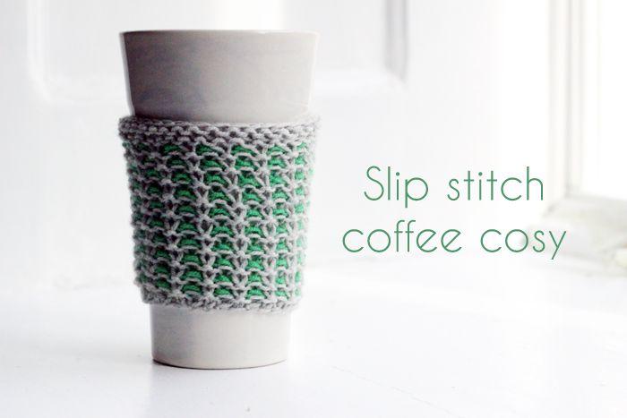 coffee cozy| www.knittedbliss.com