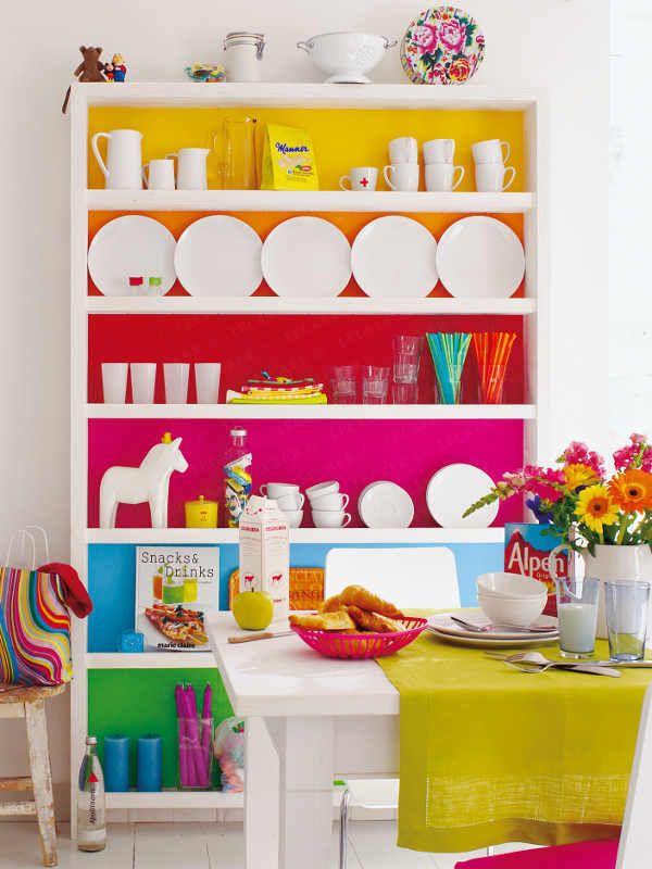 rainbow bookcase| www.knittedbliss.com