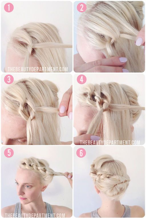 Hairstyles For Short Hair Tied Up : ... want to wear your hair up. This would be a very pretty way to do it