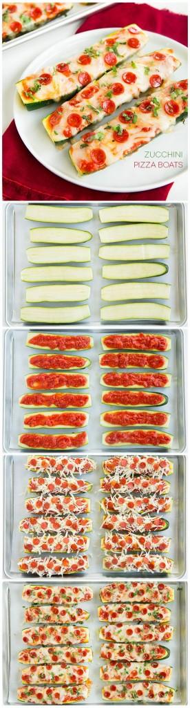 Pin Ups: zucchini Pizza Boats | knittedbliss.com