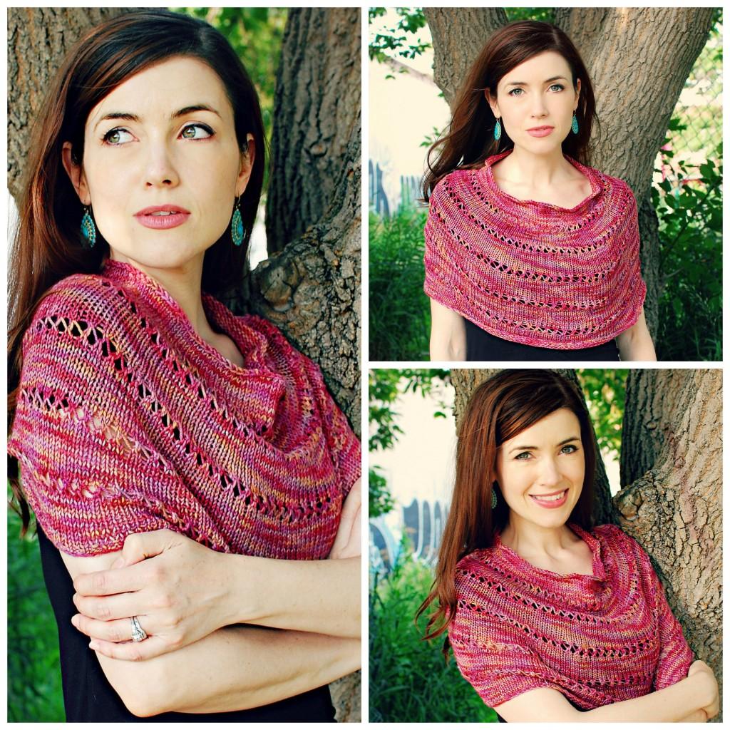 FO: Autumn Sun Caplet| knittedbliss.com