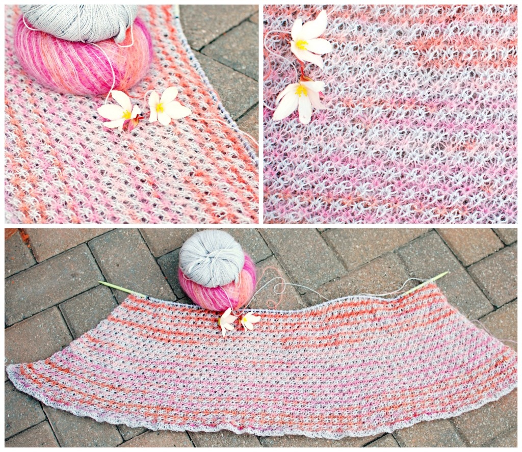WIP: Starry Starry Sunset Shawl| knittedbliss.com
