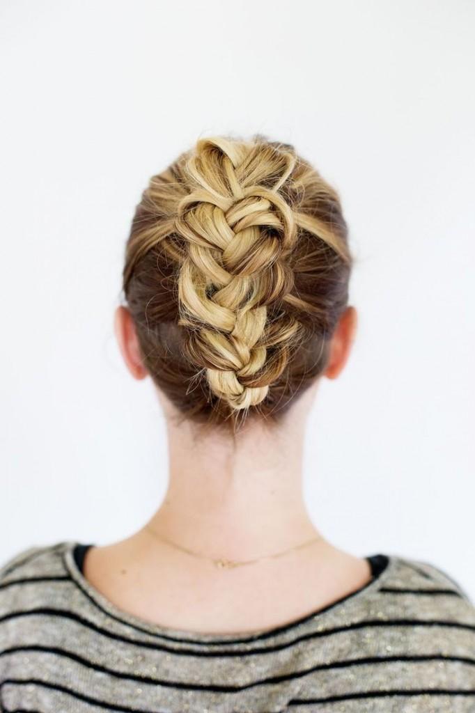 Pin Ups: Braided Updo|www.knittedbliss.com