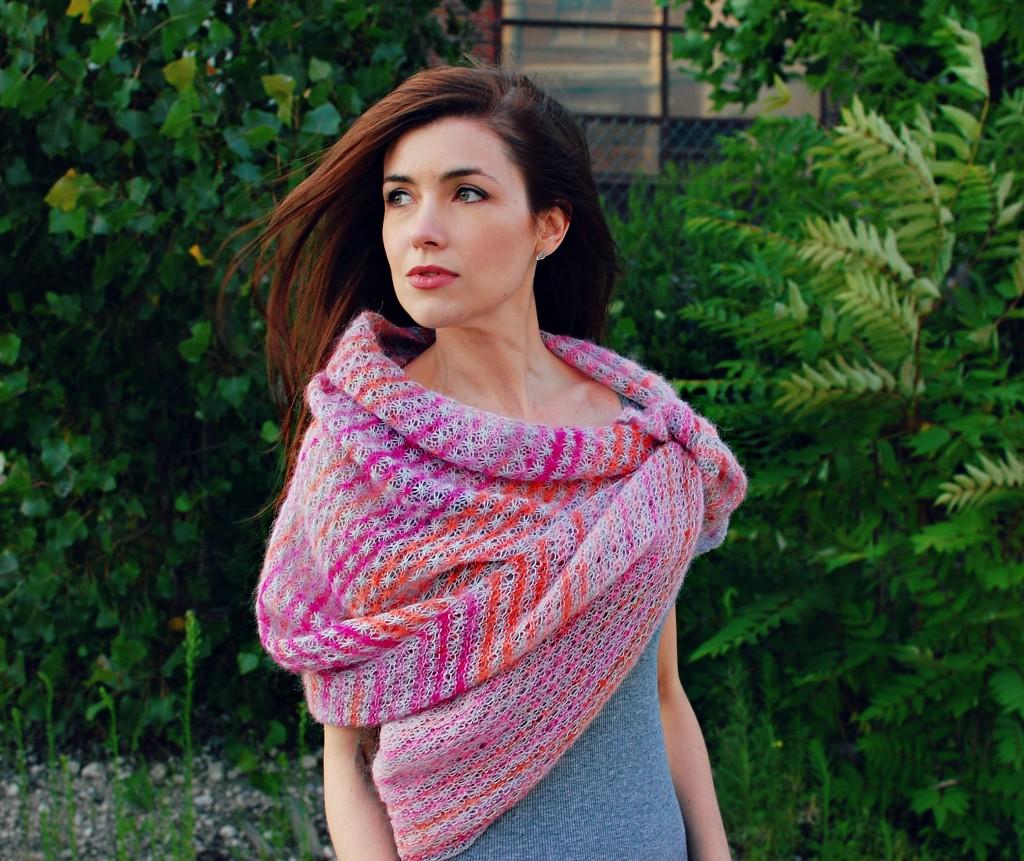 Sunset Shawl | knittedbliss.com