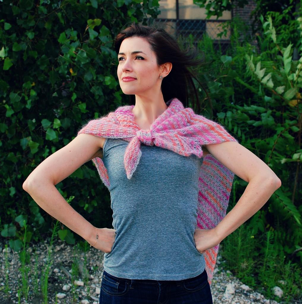 Sunset Shawl| knittedbliss.com