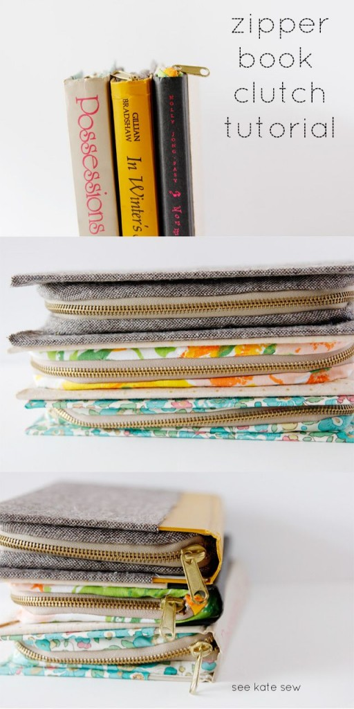 Pin Ups: Sewn Book Clutch| knittedbliss.com
