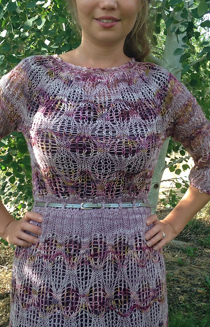 Modification Monday: Camino Bubbles Dress | knittedbliss.com