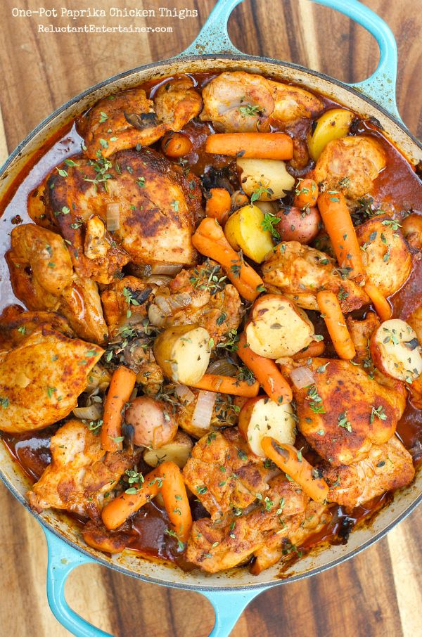 Pin Ups: One Pot Paprika Chicken Thighs | knittedbliss.com