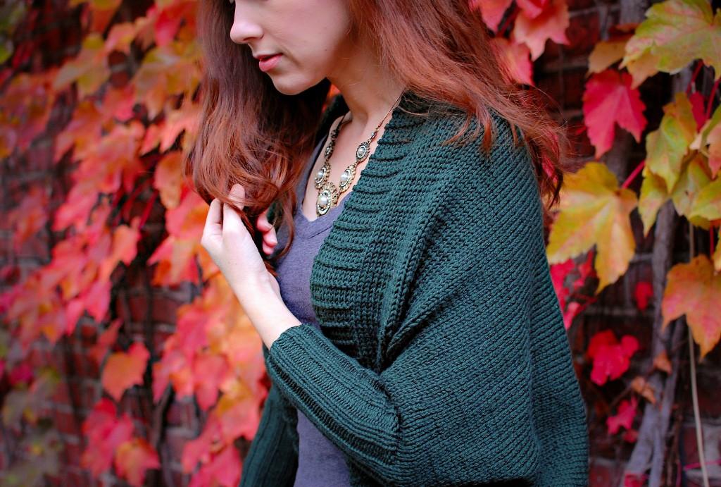 Fold & Turn Shrug Cardigan | knittedbliss.com