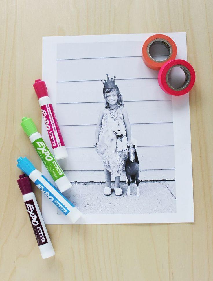 Pin Ups: DIY dry erase| knittedbliss.com