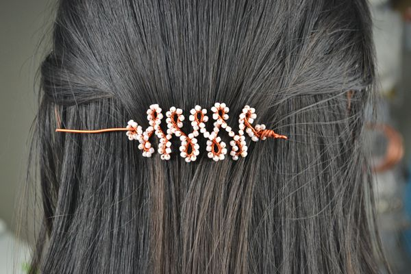 Pin Ups: DIY Hair Pins| knittedbliss.com