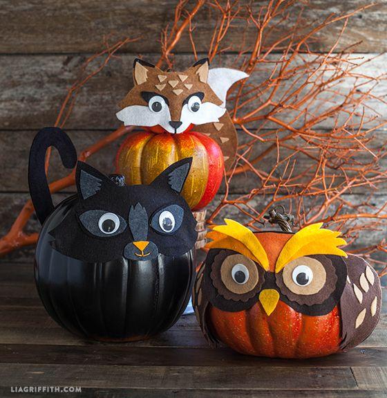 Pin Ups: No Carve Pumpkins | knittedbliss.com