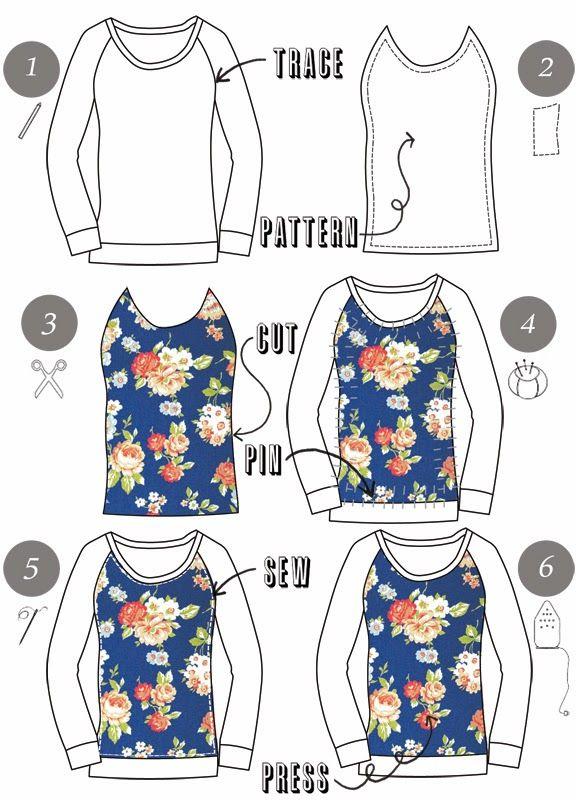 Pin Ups: Upcycled Sweatshirt| knittedbliss.com