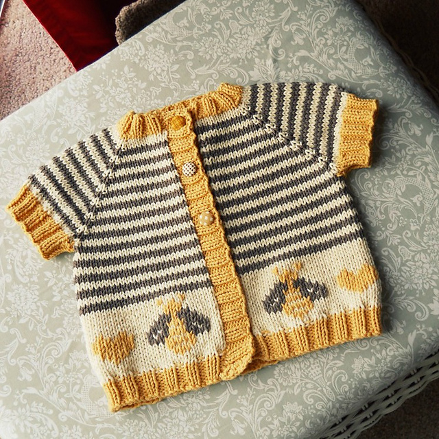 Modification Monday: Little Bumblebee Cardi |knittedbliss.com