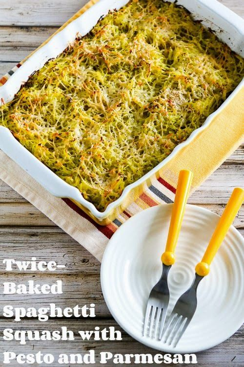 Pin Ups: spaghetti squash with pesto | knittedbliss.com