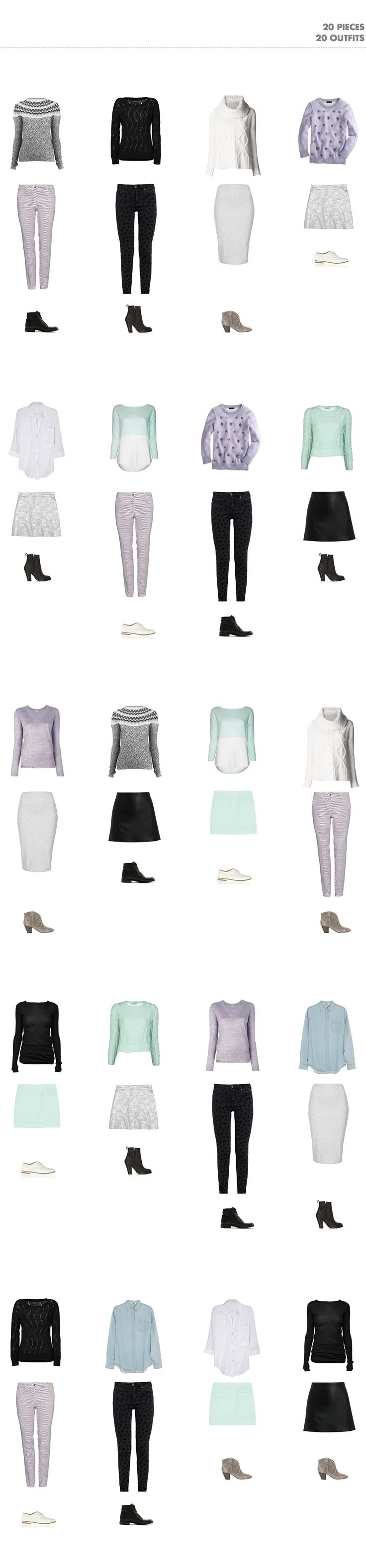 Pin Ups: Winter Capsule Wardrobe | knittedbliss.com