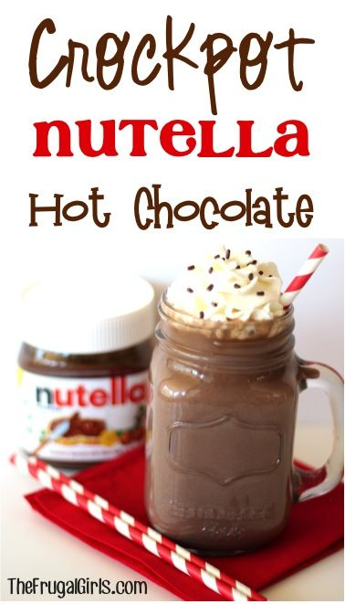 Pin Ups: Crockpot Nutella Hot Chocolate | knittedbliss.com
