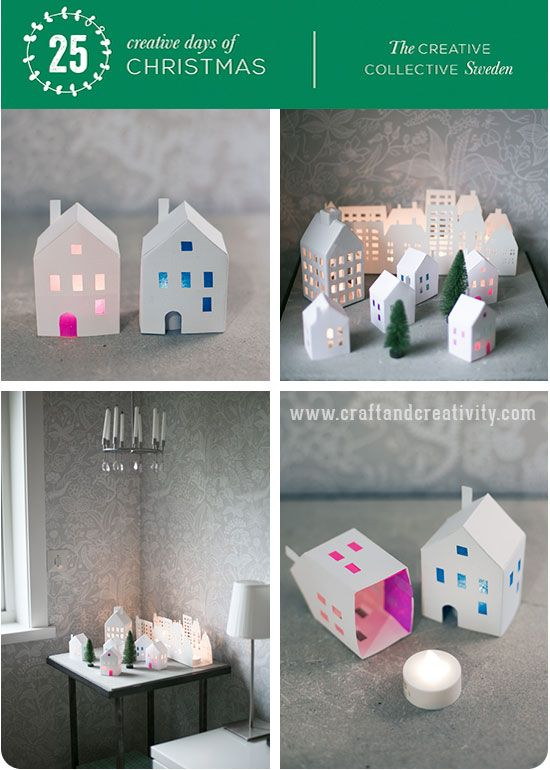 Pin Ups: paper house votive | knittedbliss.com