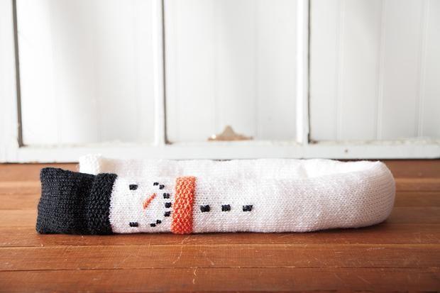Pin Ups: Knit a Snowman Draft Dodger | knittedbliss.com