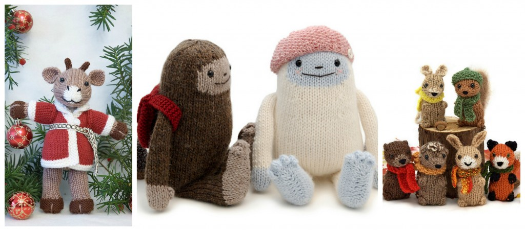 Fuzzy Mitten Collage| knittedbliss.com