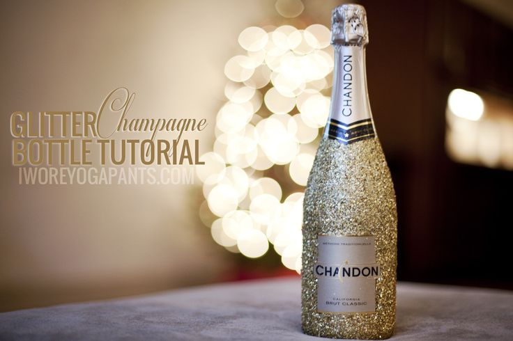 Pin Ups: Glittery Champagne Bottles   knittedbliss.com