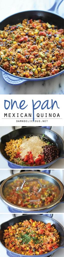 Pin Ups: Mexican One Pot Quinoa | knittedbliss.com