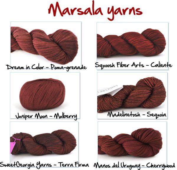 Pin Ups: Marsala Yarns | knittedbliss.com