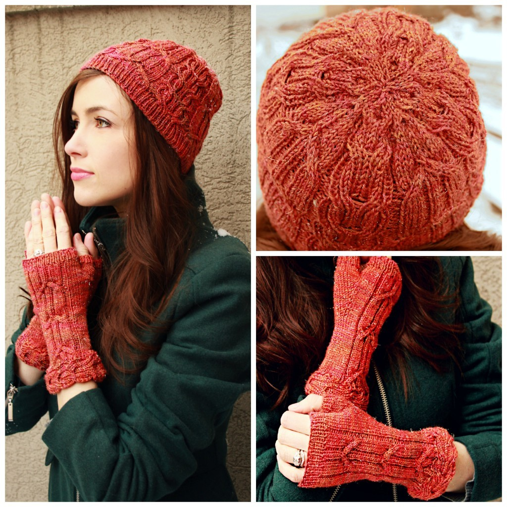 Causerie Hat and Mitts | knittedbliss.com