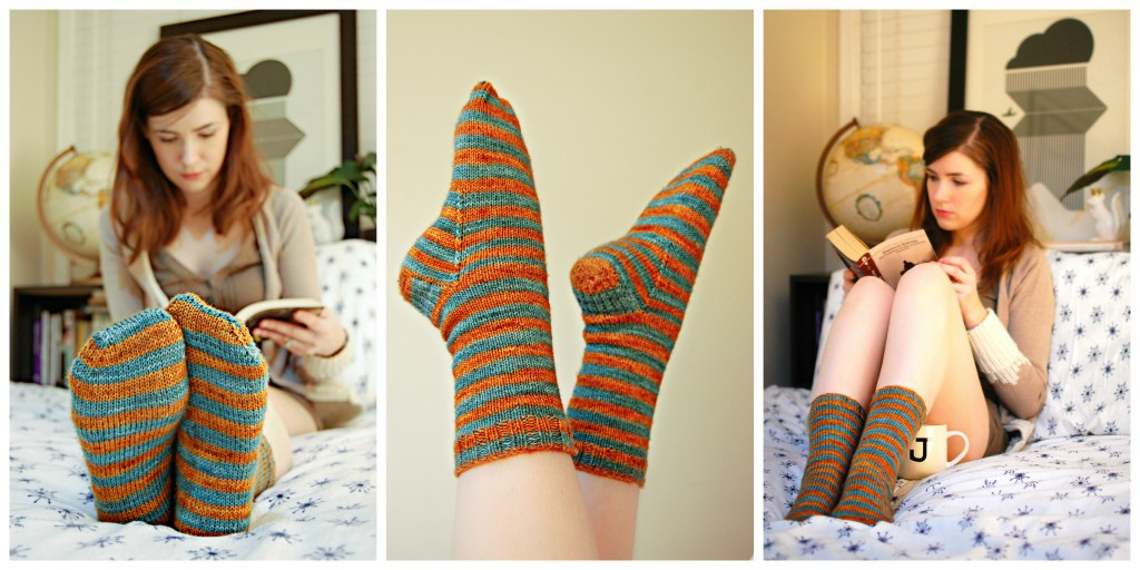 Striped Sock Collage | knittedbliss.com