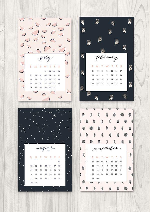 Pin Ups: Printable 2015 Calendar   knittedbliss.com