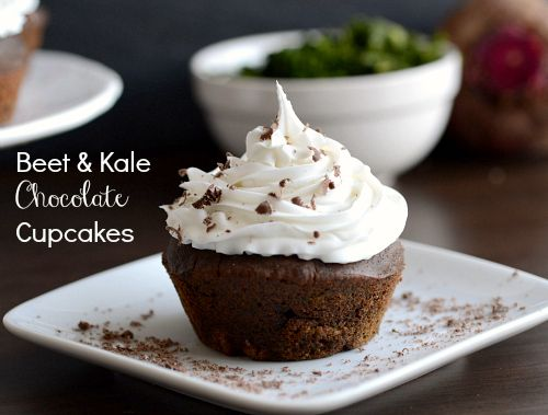 Pin Ups: beet and kale chocolate cupcakes | knittedbliss.com