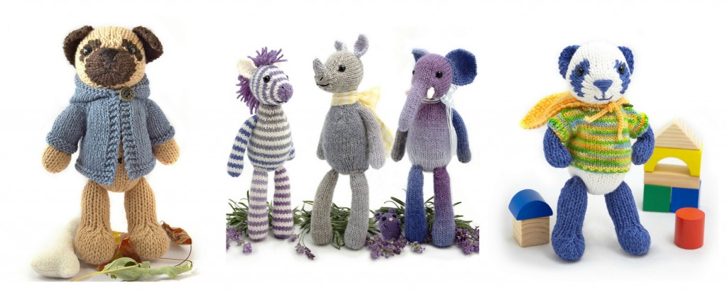 Fuzzy Mitten Collage | knittedbliss.com