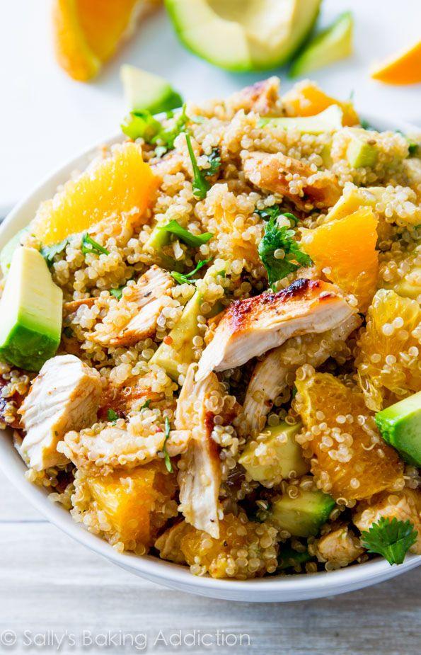 Pin Ups: Citrus and CHicken Quinoa Salad | knittedbliss.com