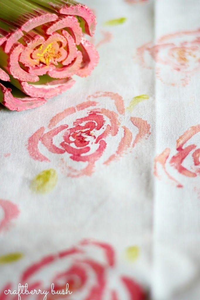 Pin Ups: Celery Stamping | knittedbliss.com