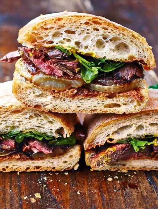Pin Ups: Steak and Onion Sandwich | knittedbliss.com