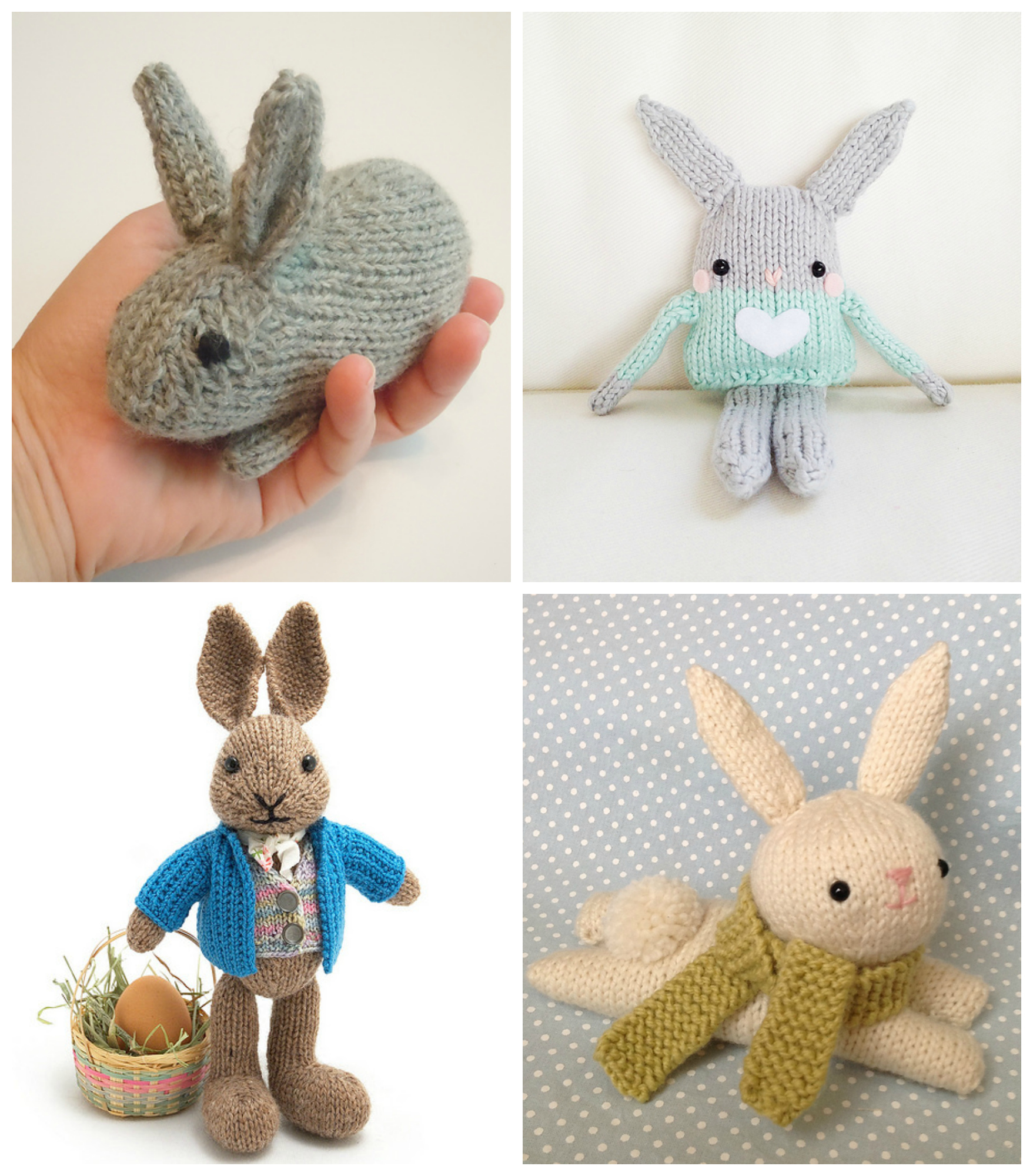 Easter Bunny Knitting Pattern : Easter Knitting Ideas and Patterns: Bunnies, Chicks, Lambs and More - Knitted...
