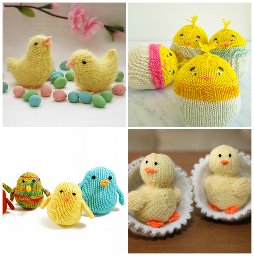 Easter Chick Knitting Pattern Instructions : Easter Knitting Ideas and Patterns: Bunnies, Chicks, Lambs ...