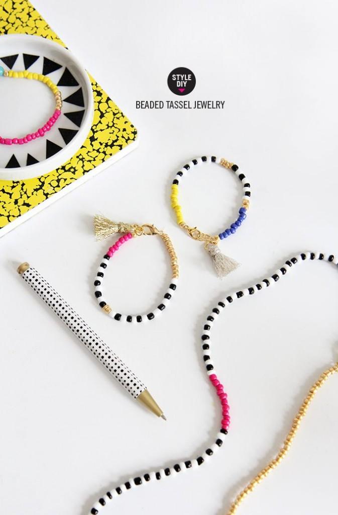Pin Ups: DIY tassel bracelets| knittedbliss.com