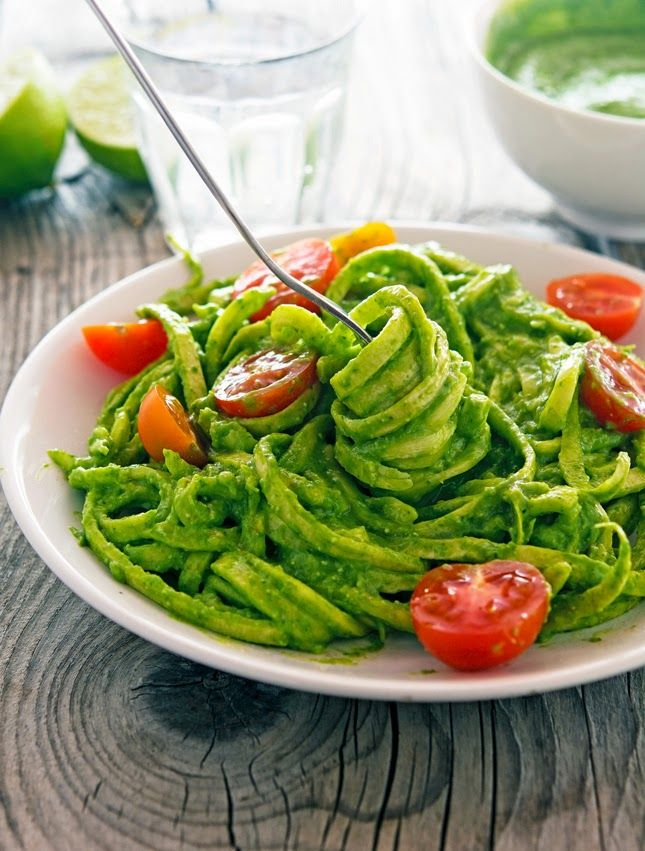 Pin Ups: Avocado and Spinach Fettuccini | knittedbliss.com