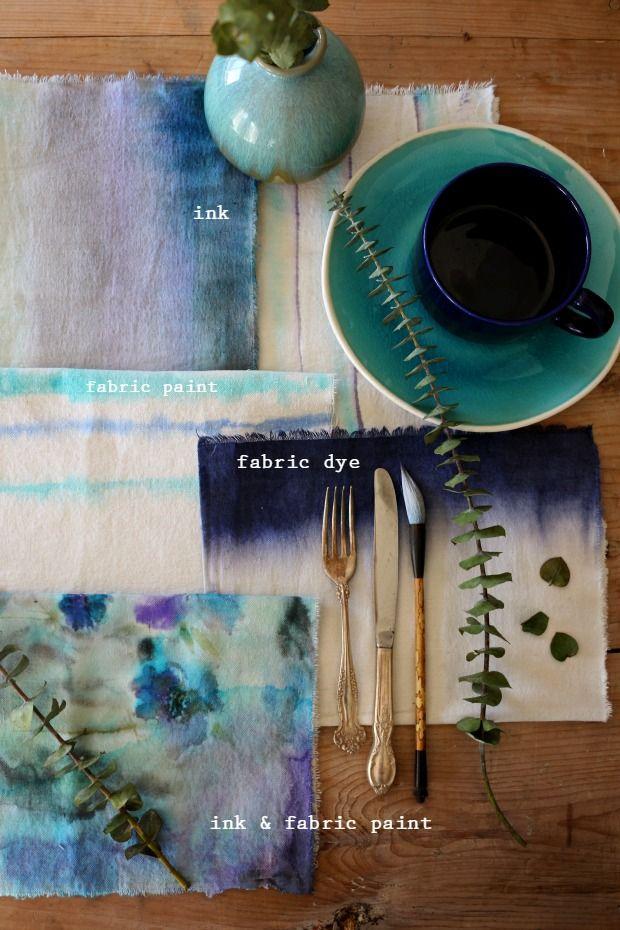 Pin Ups: watercolour napkin DIY | knittedbliss.com