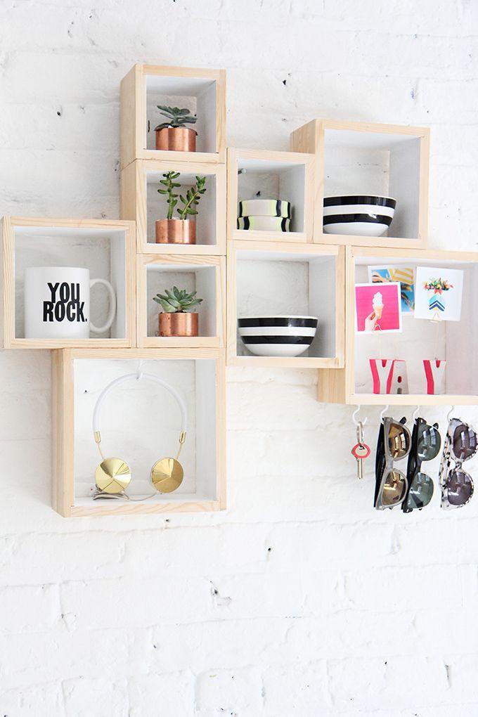 Pin Ups: DIY Wooden Box entryway | knittedbliss.com