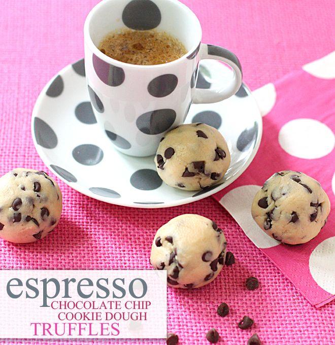 Pin UPs: espresso cookie dough truffles | knittedbliss.com