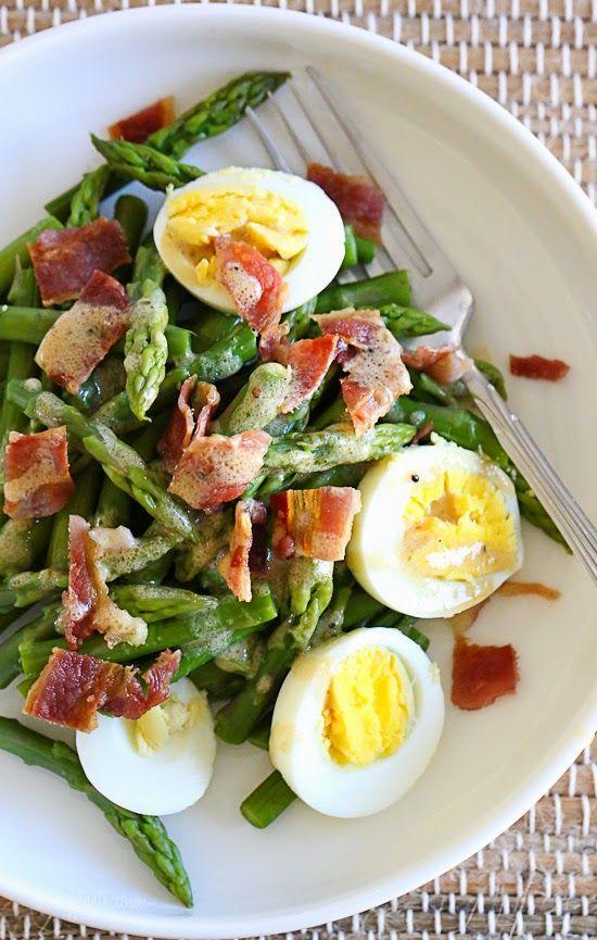 Pin Ups: Asparagus and Bacon Spring Salad | knittedbliss.com