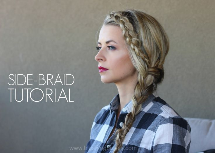 Pin Ups: Side Braid Tutorial | knittedbliss.com