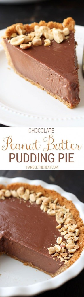 Pin Ups: Chocolate Peanut bUtter Pudding Pie | knittedbliss.com