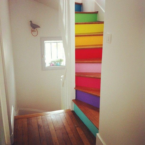 1 rainbow stairs