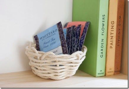 Pin Ups: DIY rope basket | knittedbliss.com