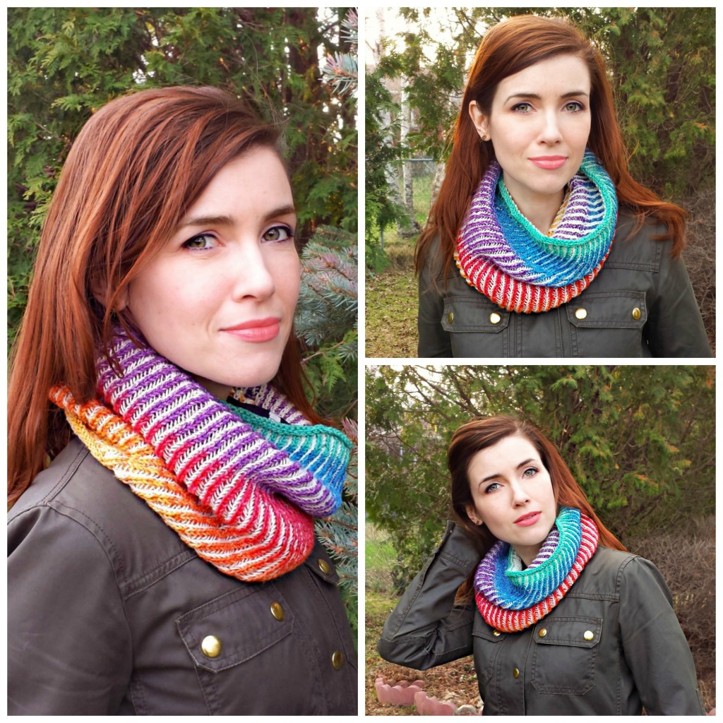 Finished Knit: Chromatic Cowl | knittedbliss.com
