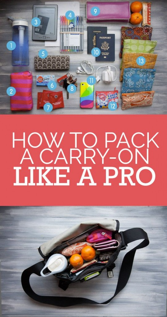 Pin Ups: How to Pack Carry On Like a Pro | knittedbliss.com