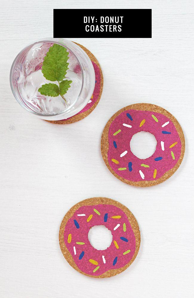 Pin Ups and Link Love: DIY Donut Coasters| knittedbliss.com